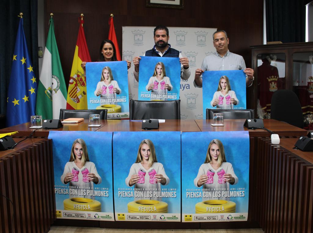 Campaña de Reciclaje en Cartaya, organizada por el Ayuntamiento de la localidad.