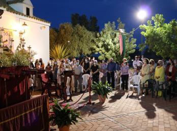 La Salida de la Virgen de Consolación a las puertas de la ermita cierra los actos