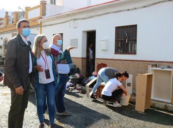 La alcaldesa traslada al Delegado del Gobierno de España y a todas las administraciones, las necesidades de los afectados por la DANA