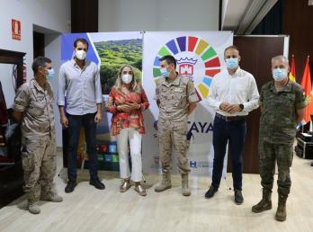 Visita Institucional de la Guardia Real al Ayuntamiento de Cartaya para preparar actividades de exhibición en el municipio